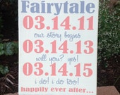 Disney Wedding Date Sign, Wedding Gift, Bridal Shower Decor , Engagement gift, Important Dates, Special Dates, Castle Inn Designs