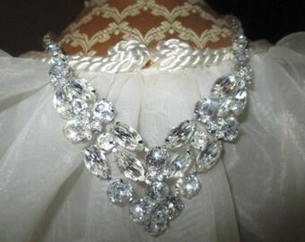 Vintage EISENBERG ICE Rhinestone Necklace/Choker