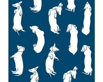Lots of Sleepy Dachshunds Art Print. Custom colour choice. Illustrations of my pet dachshund's sleeping postions