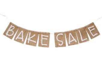 BAKE SALE Burlap Banner