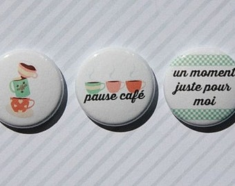 "3 badges 1 ""coffee break"