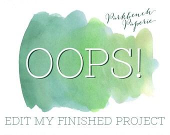 Oops! I need to change something