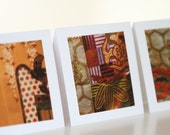 Thank You Cards, Set of 3, Japanese Screen and Kimono Fabric Detail - EchidnaArtandCards