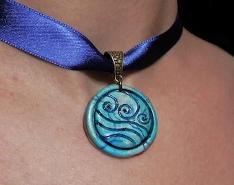 Katara's necklace. Water tribe emblem.  Water Tribe 's emblem. Avatar the last airbender. Waterbending. Waterbound.