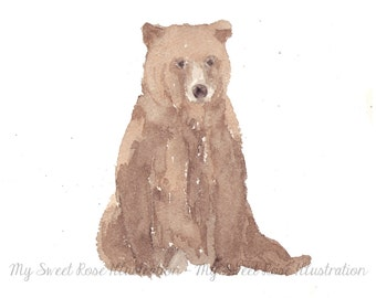 Brown Bear - Archival Print by Laura Davies