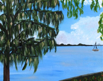 Island Afternoon - Original Acrylic Painting on Canvas