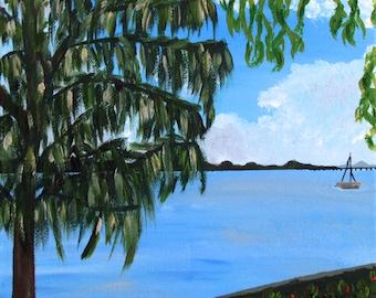 Island Afternoon - Original Acrylic Painting on Canvas