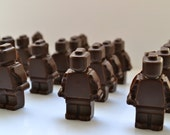 Lego Chocolate Army Favor- Organic and Fair Trade 4 Bags