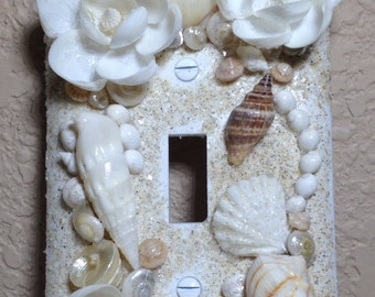 Seashell Single Light Switch Cover