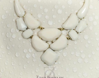 Ivory bubble necklace, Bridesmaids Necklace, Fashion Party Necklace