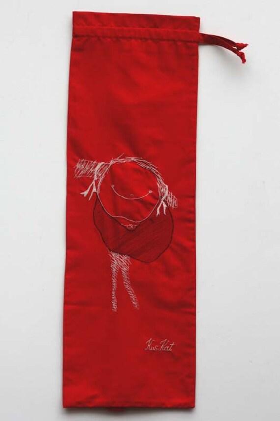 On Sale Red Cotton French Bread Bag Kuskat Yoga Mat