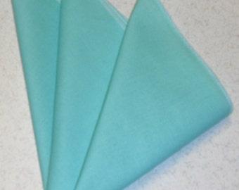 "12"" x 12"" Aqua Blue Pocket Square"
