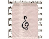 Music Party Favor Bags Glassine Guest Take Home treats choir ideas