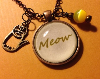 "Cat ""meow"" necklace"