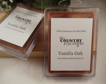 Vanilla Oak Scented 100% Soy Wax Melt - Aromatic and Refreshing Scent- Maximum Scented