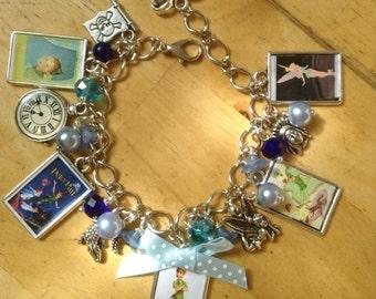 Peter Pan Charm Bracelet. Handmade, Unique