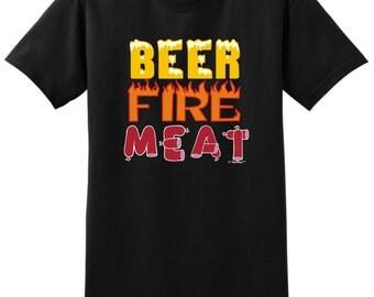 Beer Fire Meat T-Shirt 2000 - WRS-238