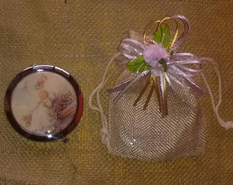 Christening pocket Mirror  Party favor - One dozen(12)