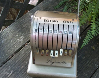 Antique 1950's Paymaster Check Writer S-600 Series