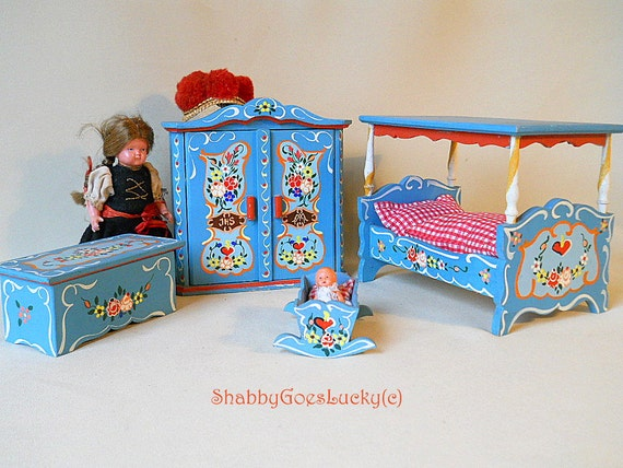 Dollhouse Furniture Small Scale German Vintage Bavarian