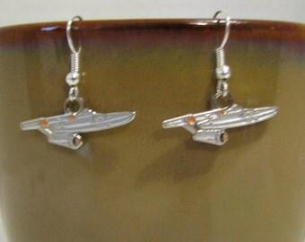Star Trek Enterprise Fish Hook Earrings
