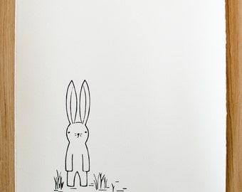 Rabbit in the Grass 11x14