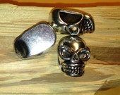 5 pcs Big Paracord Bracelet Lanyard Necklace Metal Biker Skull Beads Charms