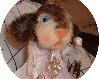 Cute felted bunny girl....