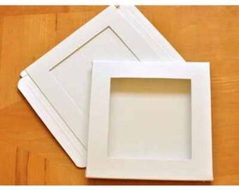 Window gift box for handkerchief