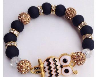 Black & Gold Owl
