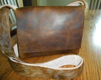 Cross body leather bag purse