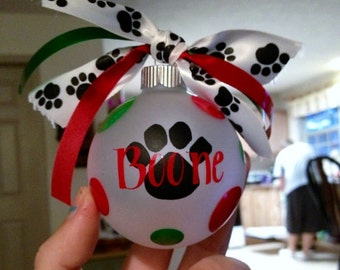 Paw print - Personalized dog ornament