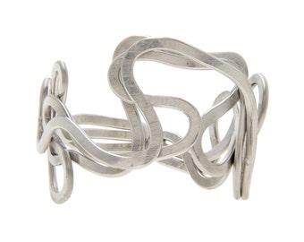 Silver Hammered Bracelet, Cuff Bracelet in Sterling Silver, Hammered Silver Bracelet, Hammered Sterling Silver, Women Jewelry, Girl Gift