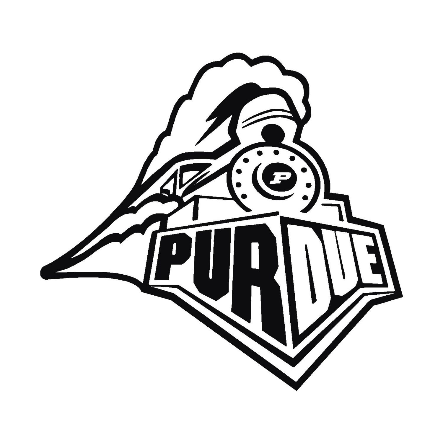 Purdue Logo Train Free Coloring Pages