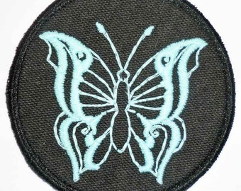 Iron-On Patch - GLOW-in-the-DARK BUTTERFLY