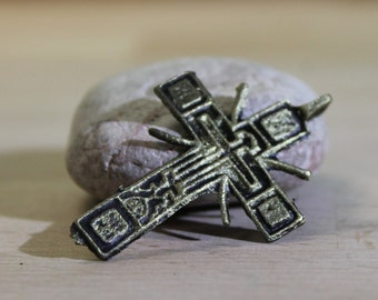 antique cross ... BIG ... vintage cross ...  antique jewelry ... found objects ... Best Price