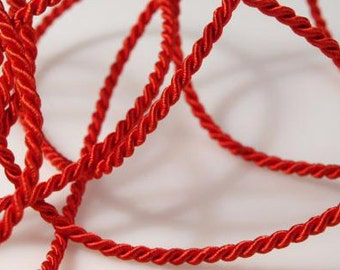 5 meter cord, Red, 2.8 mm (1340)