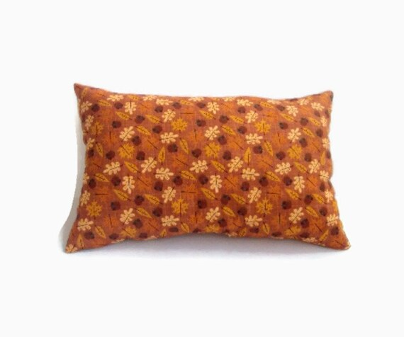 Decorative Pillows For Fall : Decorative 18x12 Fall Pillow In Rust With A Leaves And Acorns