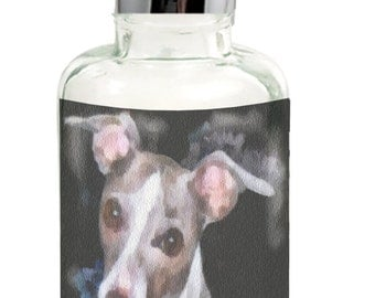 Italian Greyhound Glass Soap Dispenser