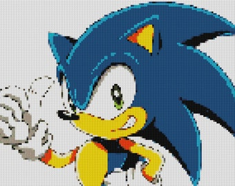 Sonic Cross Stitch Pattern