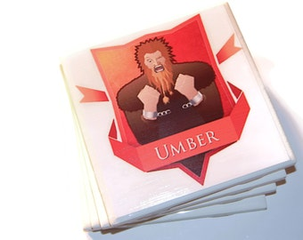 Game of Thrones Umber Coasters
