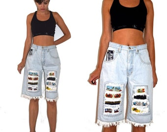 Vintage  90's Fryed Distressed Denim Shorts