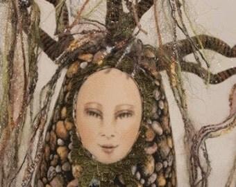 Tree Spirit, spirit doll, OOAK