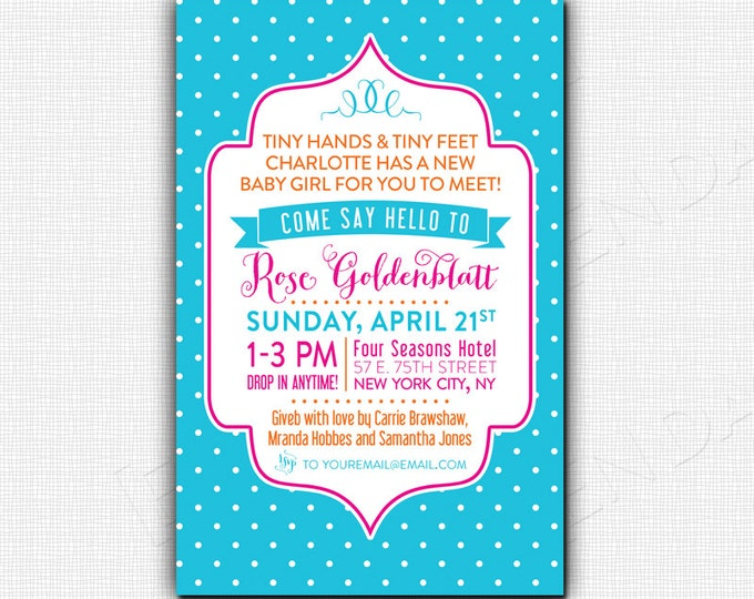 SIP AND SEE - New Baby Invitation