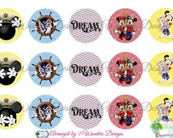 Dream Cruise Disney bottlecap image sheets ~7 Different ~