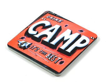 Fridge Magnet, Camp Fridge Magnet, Photo Magnet, Plastic, Square, Handmade