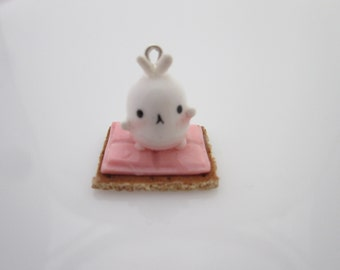 Molang S'mores Polymer Clay Charm