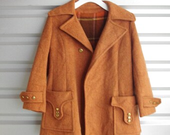 50s Heavy Wool Swing Coat