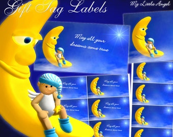 """My Little Angel """"Dreams"""" Gift Tag Labels - Digital Download"""