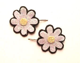 20% off everything with the code XMAS20 Cute Glittered Daisy Bobby Pins